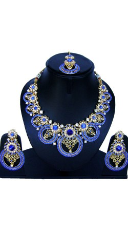 Exceptionally Made Necklace Set With Maang Tika NNP86708