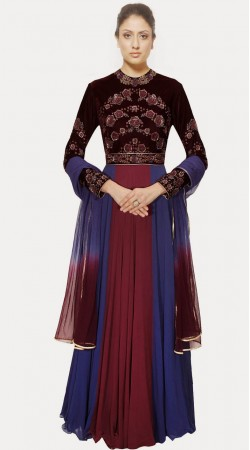 Exclusive Blue Georgette Exclusive Salwar Kameez With Dupatta SUMA3209