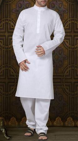 Exclusive Cotton Kurta Pajama For Men White RL1190403