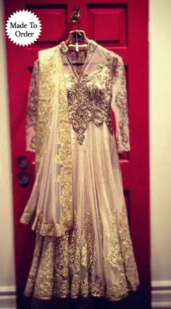 Exclusive Embroidered Cream Net Replica Long Anarkali Suit SMDS00X