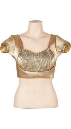 Exclusive Golden Premium Fabric Designer Blouse For Saree BP0709