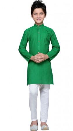 Exclusive Green Cotton Boy Kurta Pajama GR10408