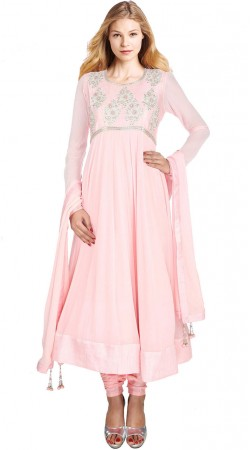 Exclusive Light Pink Georgette Long Anarkali Suit With Dupatta SUUDS30604