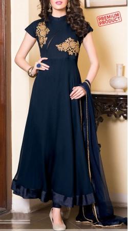 Exclusive Navy Blue Ankle Length Anarkali Suit 3FD5195983