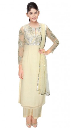 Exclusive Off White Georgette Suit With Palazzo Pant SUUDS31304