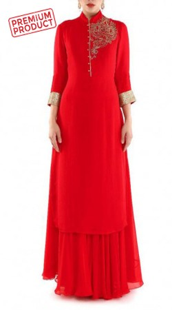 Exclusive Red Sharara Set For Party BP1745