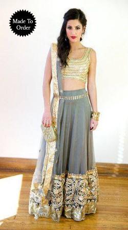 Exclusive Silver Net Replica Wedding Lehenga Choli With Dupatta SMDS0EEE