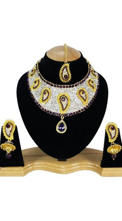 Exclusive Stone Work Party Wear Necklace Set NNP80605