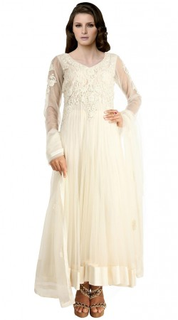 Fabulous White Net Ankle Length Anarkali Suit SUUDS19102