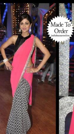 Fantastic Black Premium Fabric Designer Blouse For Saree VPBDB23