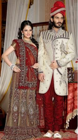 Fantastic Embroidered White Brocade Indowestern Sherwani 3FD3871332
