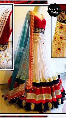 Fantastic White Premium Fabric Designer Replica Floor Length Anarkali Suit BP00507