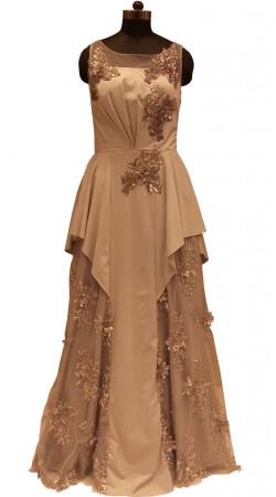Fashion Unleashed Fine Net Designer Unique Gown LD000206
