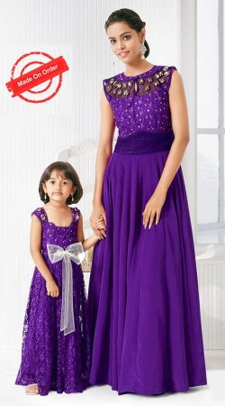 Fashionable Purple Stylish Gown For Mom And Me BP1326
