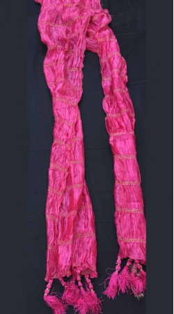 Fashionable Thread Work Ruby Crushed Sherwani Stole DTS9A36