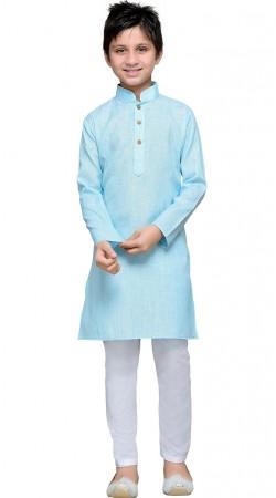 Firozi Blue Cotton Boy Kurta Pajama GR10908