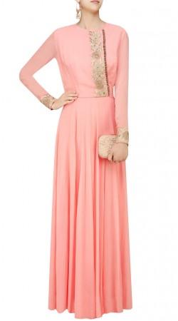 Floral Work Pink Plus Size Salwar Kamez SUUDS46126