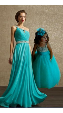 Frozen Beautiful Dress For Pretty Mother And Cute Baby BP2954