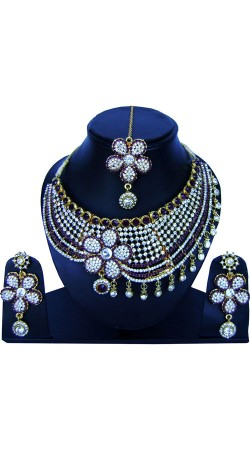 Gorgeous Necklace Set With Maang Tika For Party NNP84207