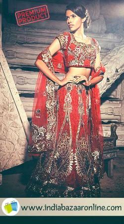Hand Work Red Designer Bridal Lehenga Choli SGR00150