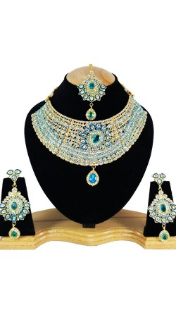 Handi Crafted Necklace Set With Maang Tika NNP79805
