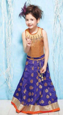 Harshaali Malhotra Blue Baby Lehenga Choli BP2132