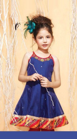 Harshaali Malhotra Blue Net Baby Girl Suit BP0532