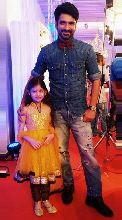 Harshaali Malhotra Mustard Net Kids Girl Salwar Kameez BP1532