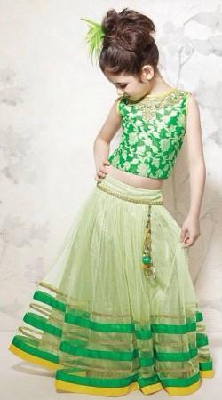 Harshaali Malhotra Pastel Green Baby Lehenga Choli BP2632