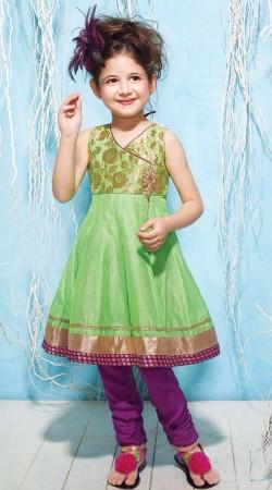 Harshaali Malhotra Pastel Green Baby Salwar Kameez BP2032