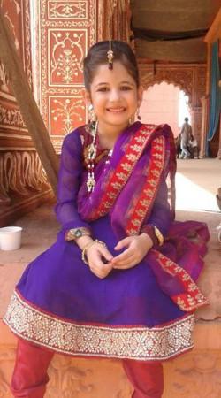 Harshaali Malhotra Purple Baby Girl Salwar Kameez BP1032
