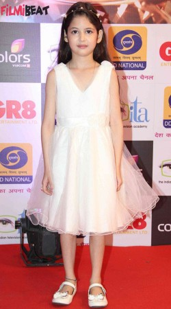 Harshaali Malhotra White Net Party Wear Frock BP1932
