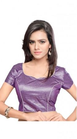 Imposing Purple Art Silk Jacquard Dori Style Designer Blouse BPMS0812