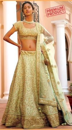 Indian Wedding Pastel Green Designer Lehenga Choli SGR00349