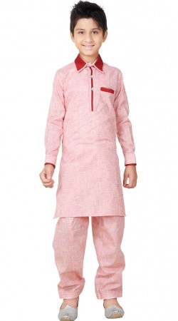 Kid Wear Linen Cotton Pathani Kurta Pajama GR26120