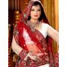L013308 Red White Bridal Lehenga Choli