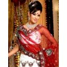 L013313 Red White Bridal Lehenga Choli