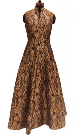 Latest Brocade Design Brocade Designer Floor Touch Gown LD001206