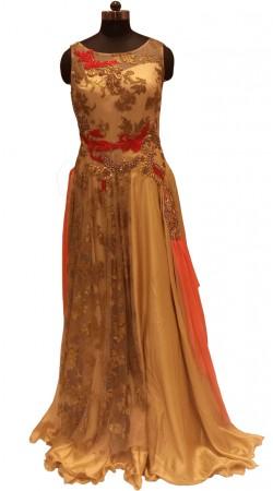 Latest Trend Pure Foil Exclusive Designer Floor Length Gown LD000706