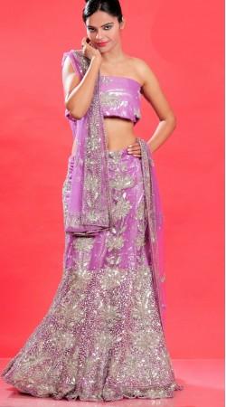 LD0101 Majesty Pink Net Lehenga Choli