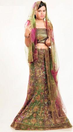 LD2601 Sparkling Multicolor Net Lehenga Choli