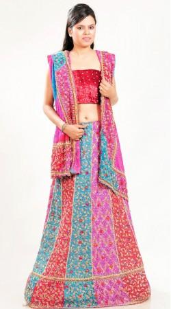 LD3001 Alluring Multicolor Broket lehenga Lehenga Choli