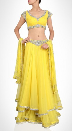 Lehenga Yellow Net Lehenga Choli With Stone Work SUUDL15216