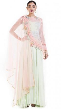 Light Pastel Green Designer Anarkali Suit SUUDS53330