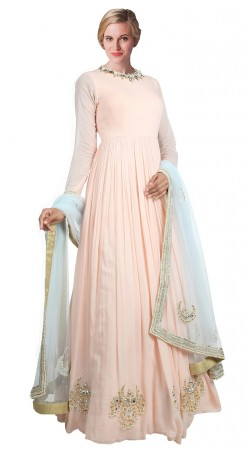 Light Pink Georgette Floor Length anarkali Suit SUUDS18202