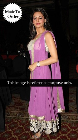 Light Purple Aamna Sharif Replica Long Length Anarkali Suit 027