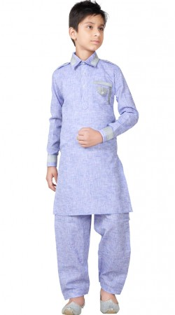 Linen Cotton Kid Boy Pathani Kurta GR26020
