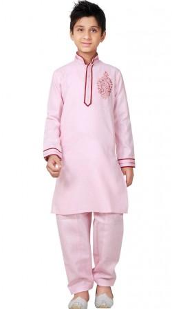 Linen Cotton Kid Boy Pathani Kurta Pajama GR25920