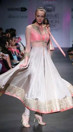 Lovely Off White Premium Fabric Designer Long Replica Anarkali Suit BP0704
