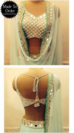 Lovely White Premium Fabric Designer Blouse For Saree VPBDB24